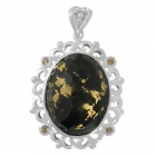 Gold Flake Pendant Np8729-GL-R